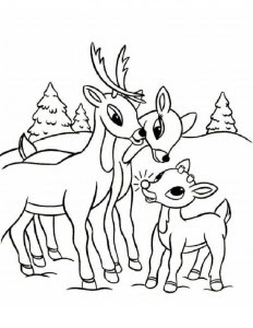christmas santa's reindeer coloring pages  crafts and