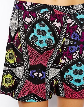 Image 3 of River Island Chelsea Girl African Print Short