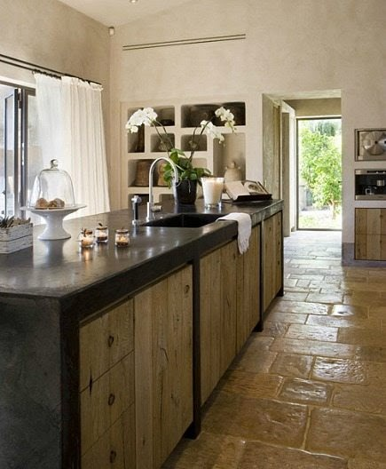 Concrete Kitchen Cabinet Spanish