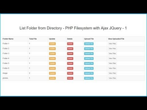 PHP Filesystem with Ajax JQuery | Webslesson