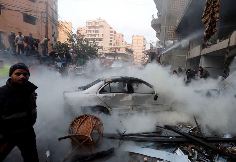 20 pessoas ficam feridas com explosão / AFP PHOTO/STR