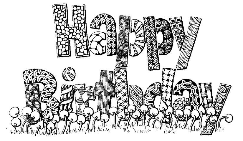 Kleurplaten Voor Volwassenen Verjaardag.Kleurplaat Volwassenen Jarig Clarinsbaybloor Blogspot Com