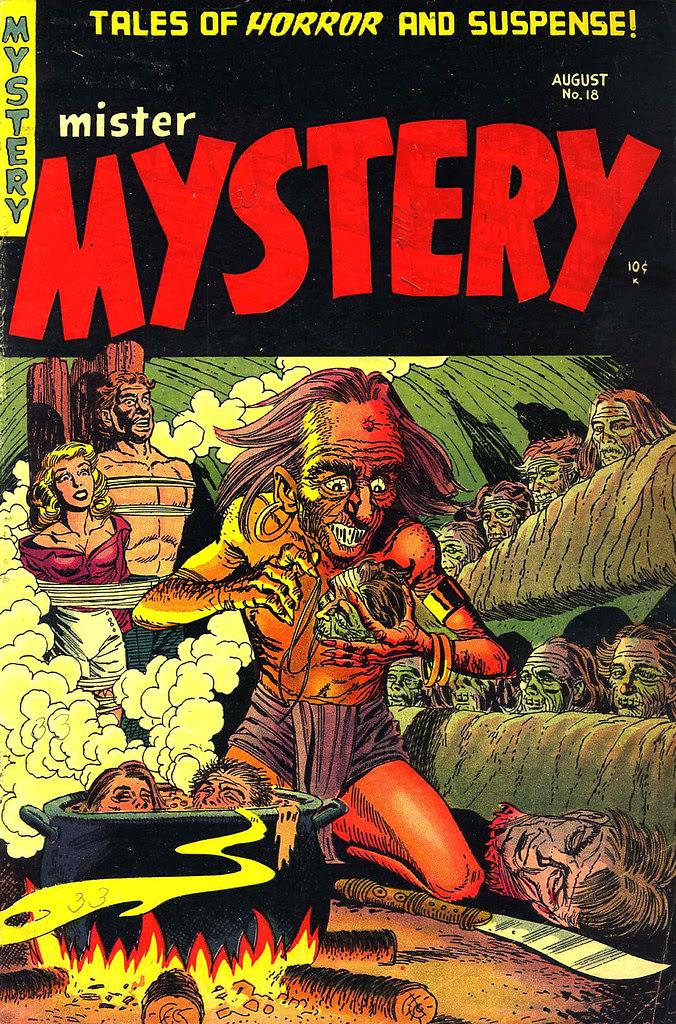 Mister Mystery #18 Bernard Baily Cover (Aragon Magazines, Inc., 1954)