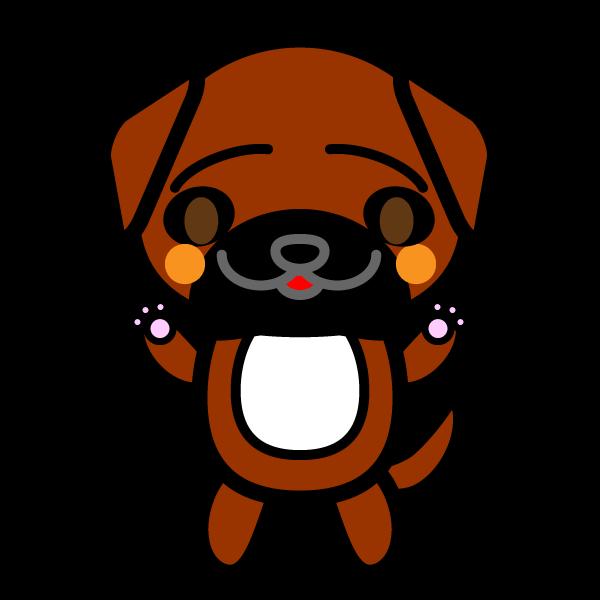 かわいい土佐犬の無料イラスト商用フリー オイデ43