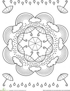 spring mandala coloring page  crafts and worksheets for