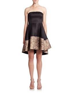 Black halo evening dress
