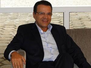 O deputado Henrique Alves (PMDB-RN) no Palácio das Mangabeiras, em Belo Horizonte (Foto: Pedro Cunha / G1 MG)