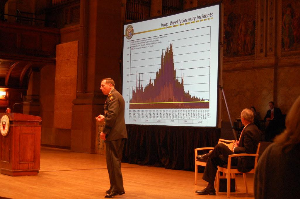 David Petraeus, reduction of violence