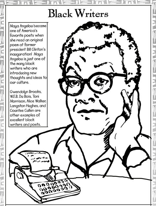 14 coloring pages of black history month - Print Color Craft