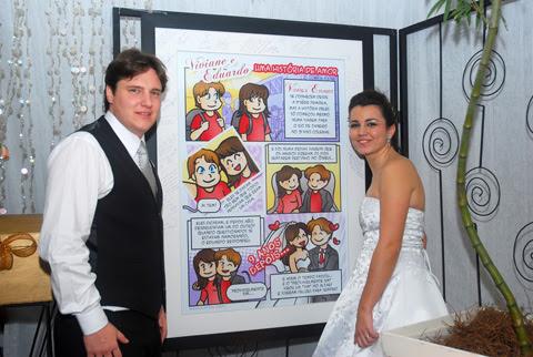 convite em história em quadrinhos personalizados para casamento, história noivinhos, Rio de Janeiro, by ila fox