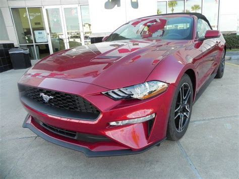 ford mustang ecoboost premium  miles ruby red