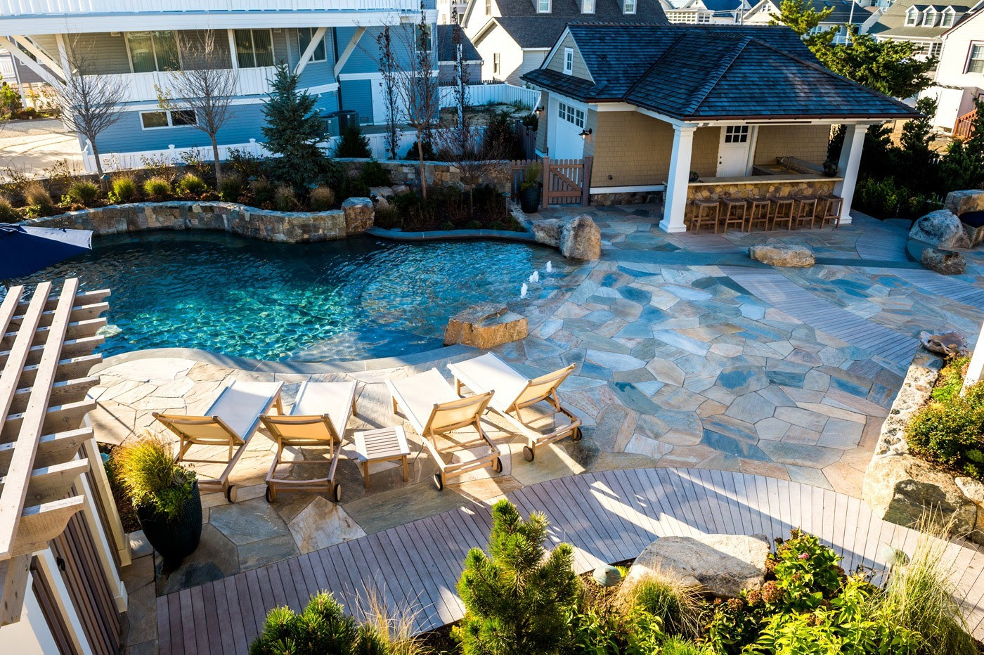 Cording Landscape Design New Jersey Landscaping Pool Estate Spa 1
