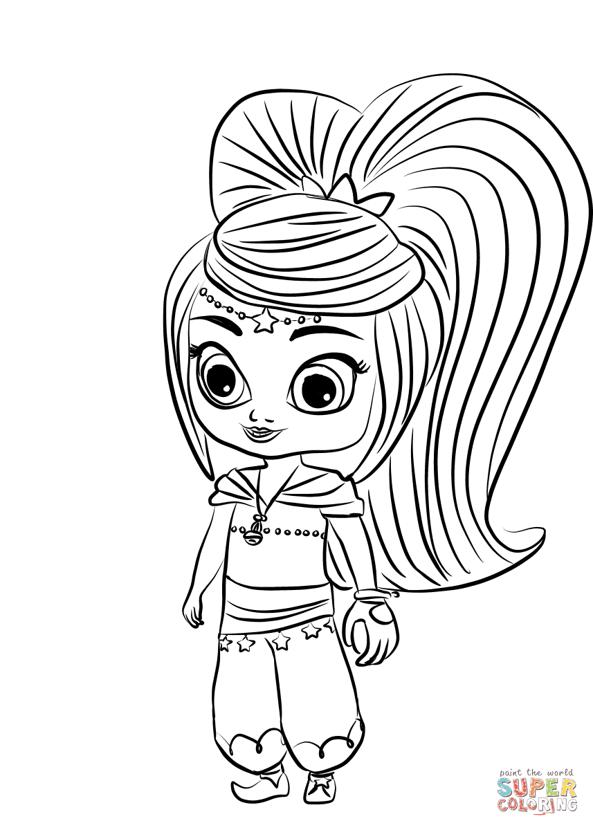 Beautiful Shimmer And Shine Cartoon Coloring Pages Anyoneforanyateam