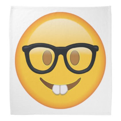Nerd with Glasses - Emoji Bandana