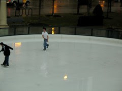 A warm day at the Millennium Park Ice Rink