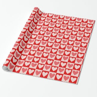 Heart Pattern on Wrapping Paper