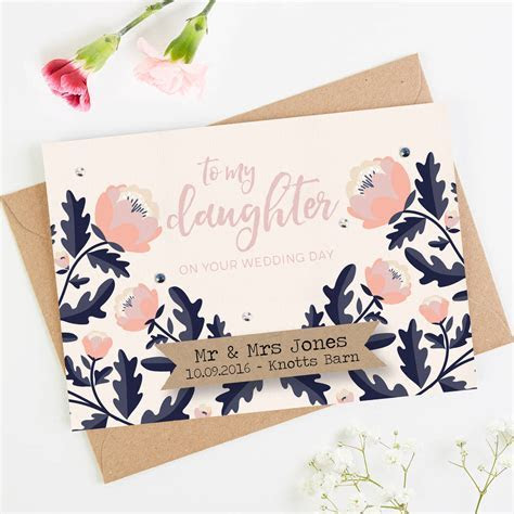 personalised daughter wedding day card by norma&dorothy