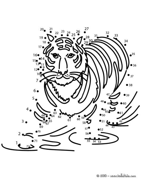 tiger dot  dot game coloring pages hellokidscom