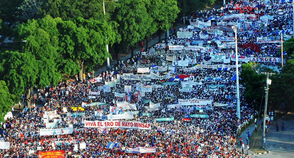 Acto Central por el 1ro de Mayo en la Plaza de la Revolución José Martí. (foto Jorge Luis Gonzàlez) 1-5-16 Acto03N9