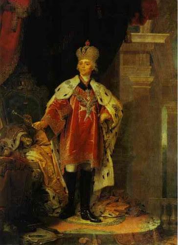 Borovikovsky, Vladmir (1757-1825) - 1800 Portrait of Paul I, Emperor of Russia (Russian Museum)