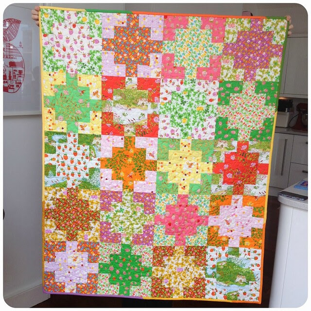 Susan's HR donated quilt to Bee Blessed