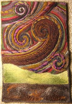 Art yarn felt painting | Flickr - Photo Sharing!   Hmmm... I'm thinking of doing something similar with my own art yarn called the Dee....