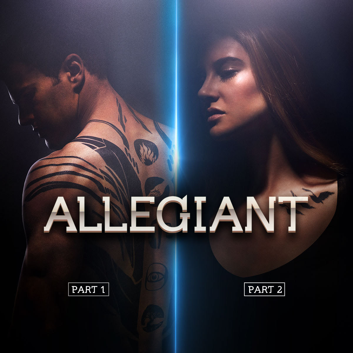 divergentmovie:  ALLEGIANT, PART 1: 3/18/16. ALLEGIANT, PART 2: 3/24/17. #VoteTris.  Exciting news, Initiates! You know we've hit the big time in YA franchises when the finale is split into 2 films (we're looking at you, Harry Potter, The Hunger Games, and Twilight).