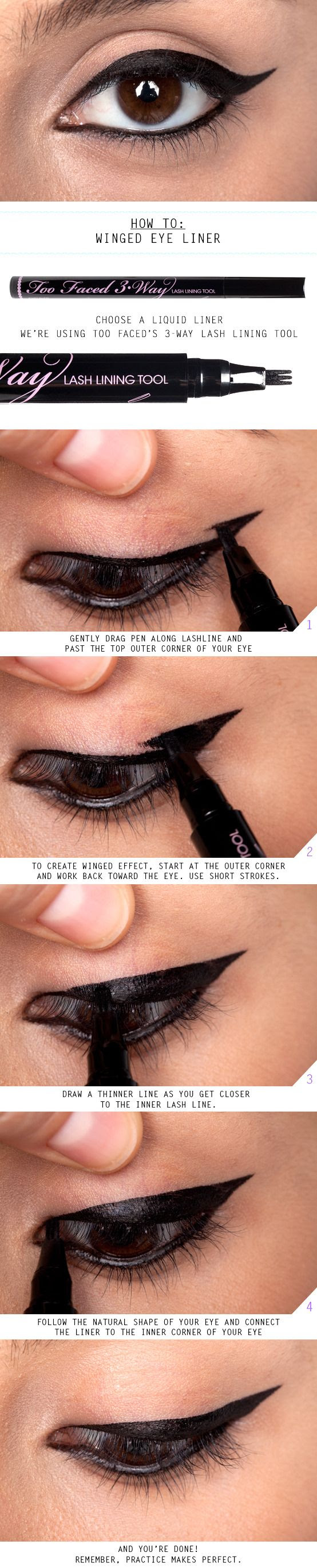 How To: Winged Eye Liner :( not hoot at this