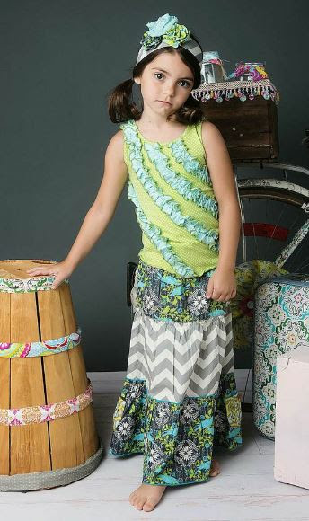 Mustard Pie Girls Finley Maxi Skirt - Doubles as Sun Dress ...