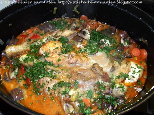 Kippenstoofpot met romige saus