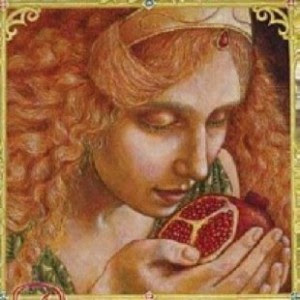 persephone with pomegranate-kris waldherr