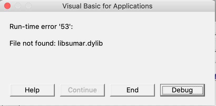 VBA 7 1 for macOS can only access /usr/lib when calling a function