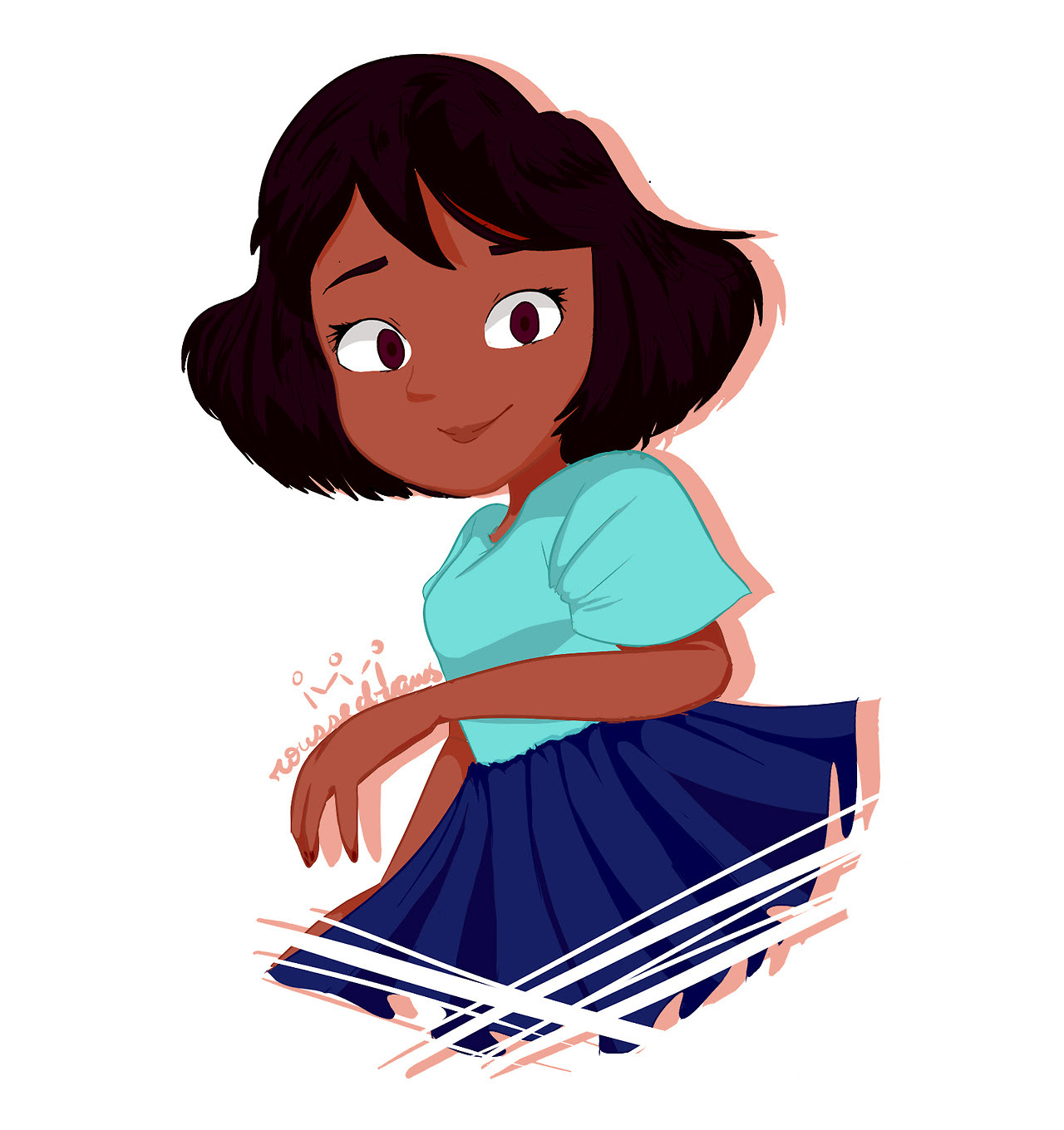 I love the new Connie's hair cut,so i draw her <3    i'm entering to Steven Universe fandom o3o