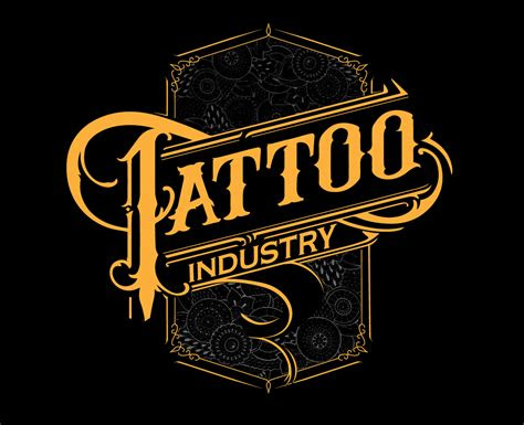 bold modern tattoo logo design  tattoo industry ti