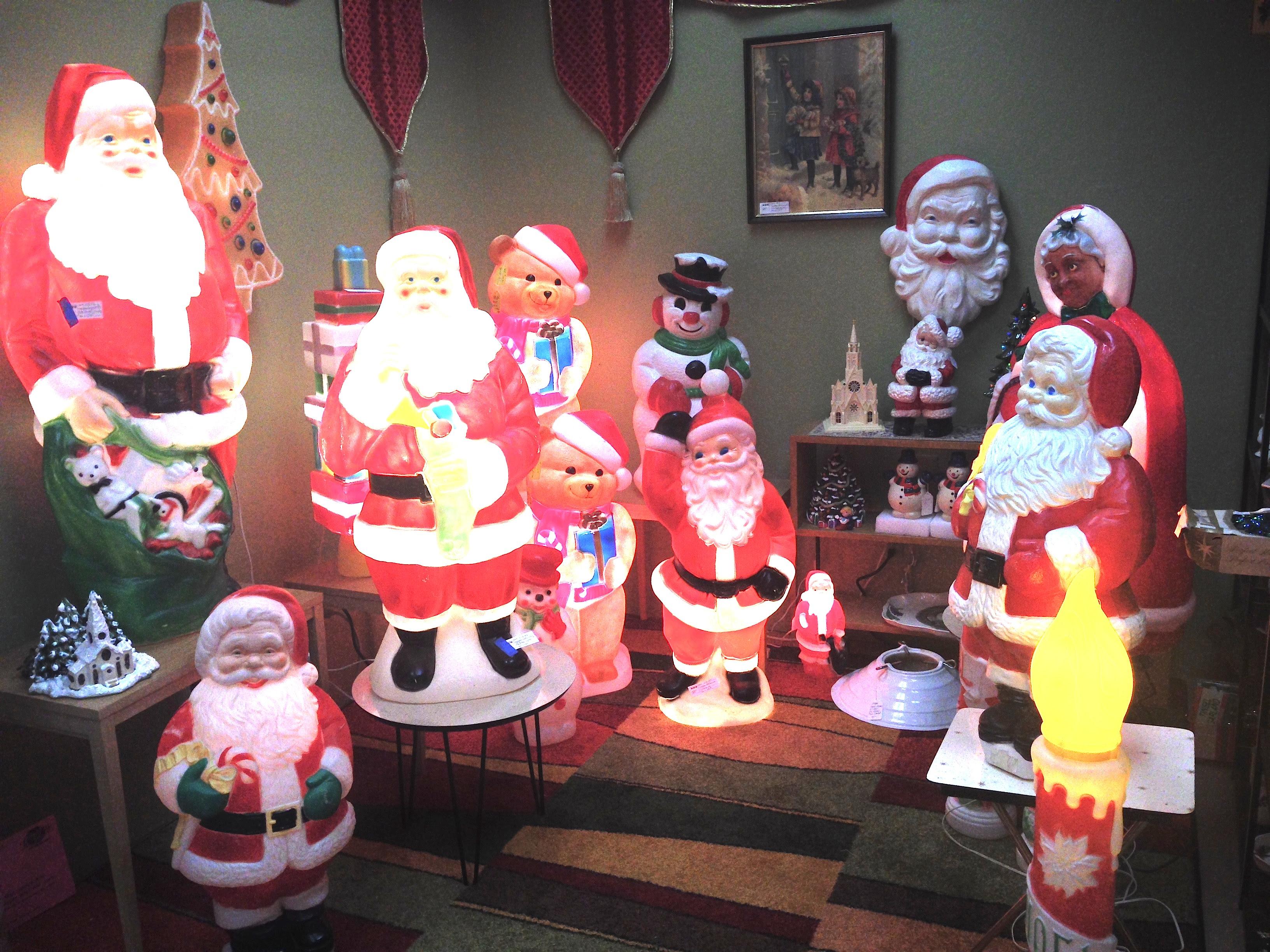 vintage christmas yard ornaments blowmold - Blow Mold Christmas Yard Decorations