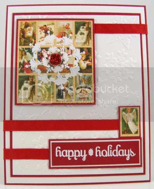 Vintage Happy Holidays Card
