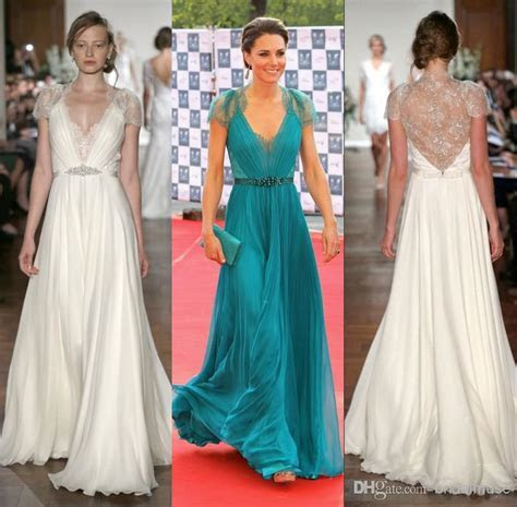 2016 Evening Gowns Lace Chiffon Kate Middleton In Jenny