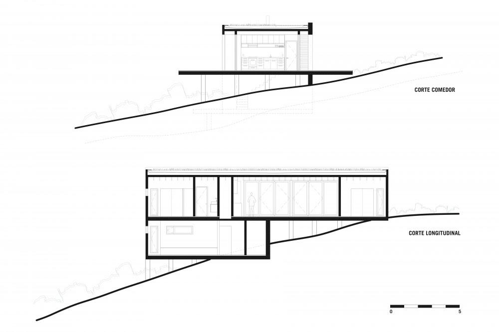 planos, Casa Cuatro - Foster Bernal Arquitectos
