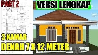 desain rumah ukuran 7 x 12 meter - berbagai ukuran