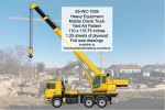 Heavy Equipment Mobile Crane Truck Yard Art Woodworking Pattern - fee plans from WoodworkersWorkshop® Online Store - heavy equipment,mobile cranes,yard art,painting wood crafts,scrollsawing patterns,drawings,plywood,plywoodworking plans,woodworkers projects,workshop blueprints