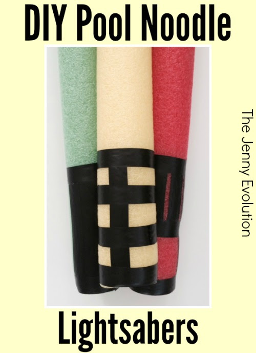Pool Noodle Lightsabers by The Jenny Evolution