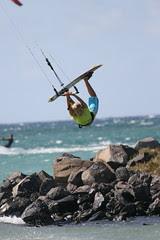 Susi doin a Raley at Kite Beach