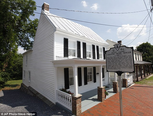Former glory: The modest two-storey house where Patsy Cline lived will open to the public on August 2