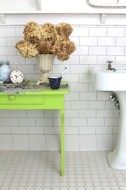 Tybee Island's Mermaid Cottage Shabby Chic Bathroom - traditional ...