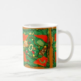 Cloth and Bead Design on Coffee/Tea Mug