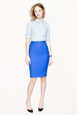 J.Crew No. 2 Pencil Skirt in Cobalt