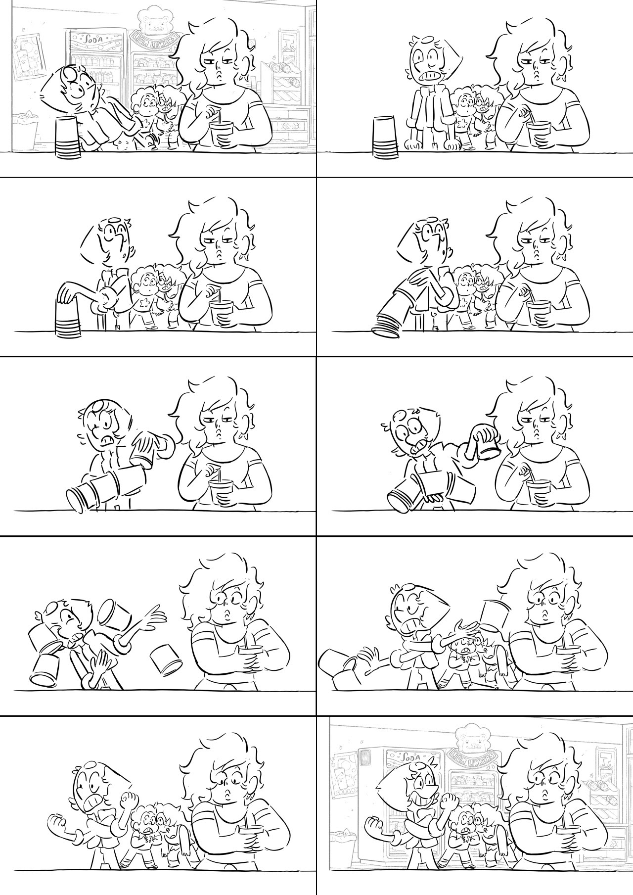 """Here are some boards I did from the Steven Universe episode """"Last One Out of Beach City""""! I love going to shows, but maybe even more than that, I love making things about going to shows. Cars,..."""