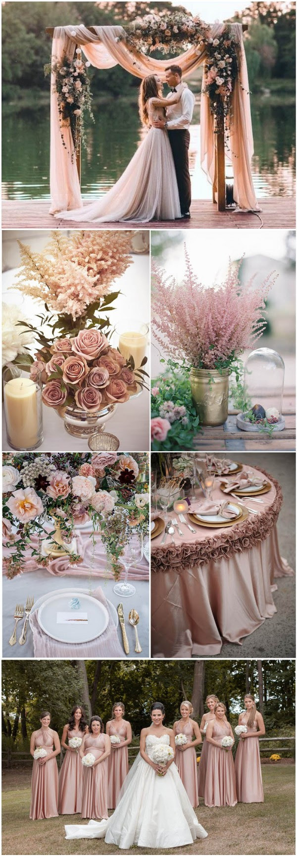 18 Romantic Dusty Rose Wedding Color Ideas for 2019 ...