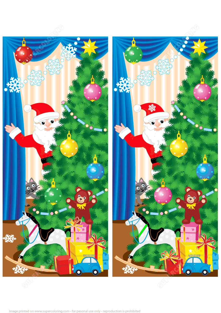 Find 10 Differences - Christmas Tree, Presents, Toys and ...