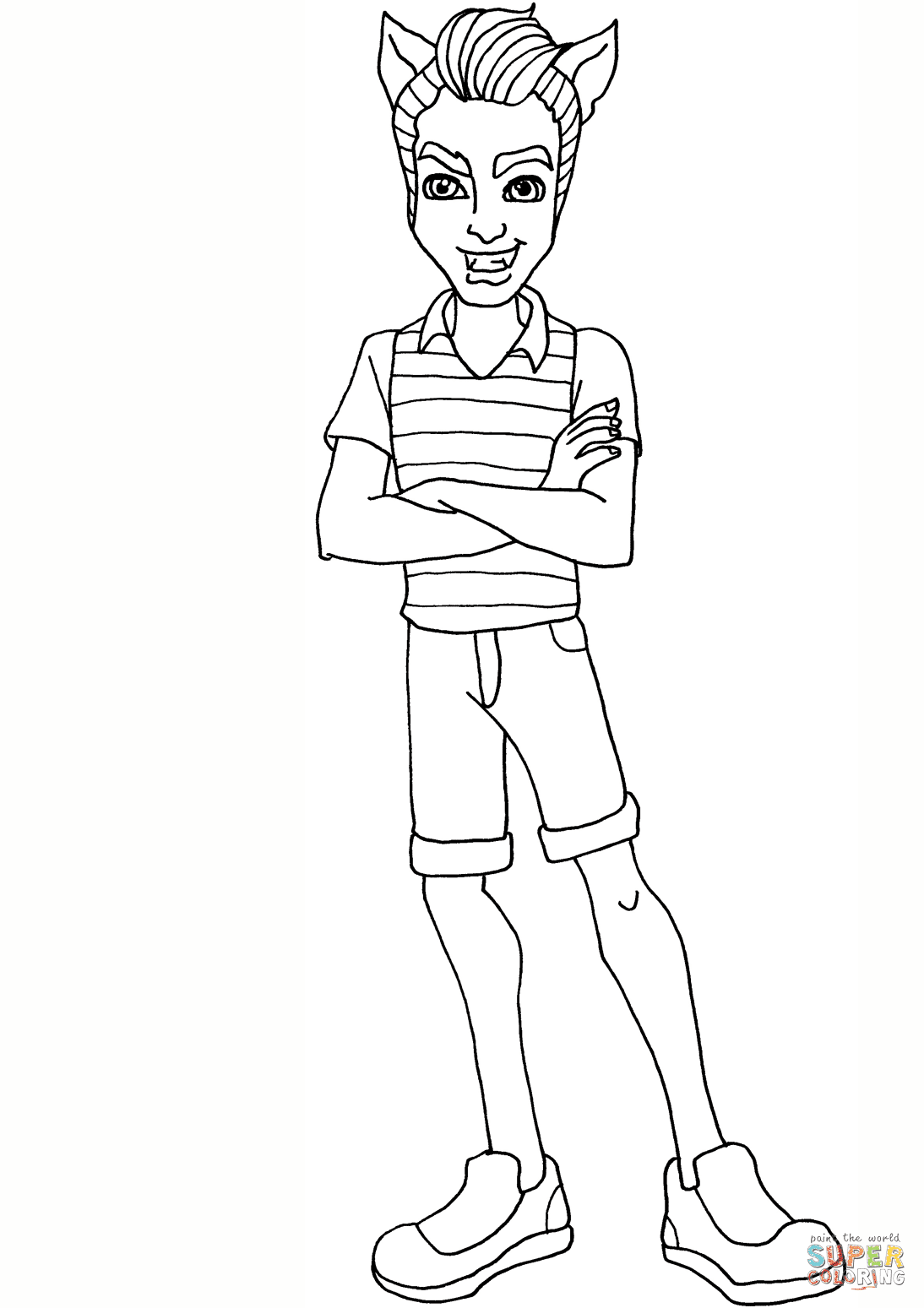 Clawd Wolf coloring page | Free Printable Coloring Pages